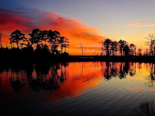 sunset landscape maryland northamerica