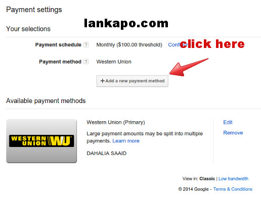 how to get payment from google adsense