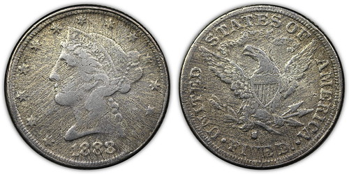1888-S Liberty Half Eagle Contemporary Counterfeit