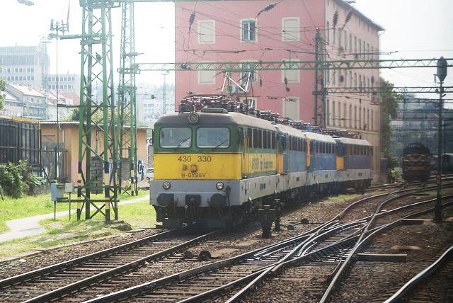 Train en Hongrie