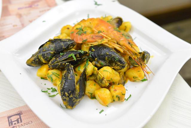 Gnocchi al Profumo di Mare homemade pasta with seafood