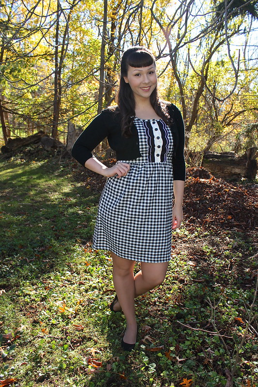 a beautiful mess gingham dress