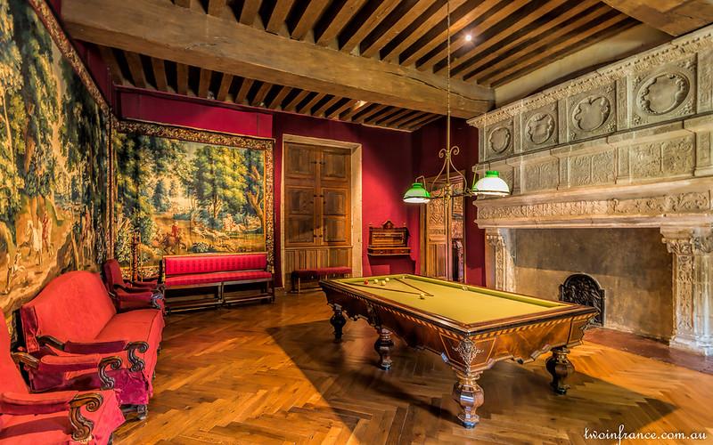 Château d'Azay-le-Rideau - The Billiard Room