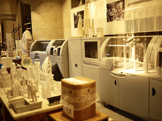 Spain Barcelona La Sagrada Familia 3D printer