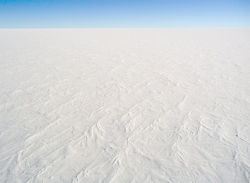 The snow surface at Dome C Station, Antarctica