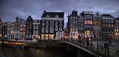 Charming historic buildings on the Singel canal