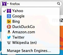 Keresőopciók a Firefox-ban