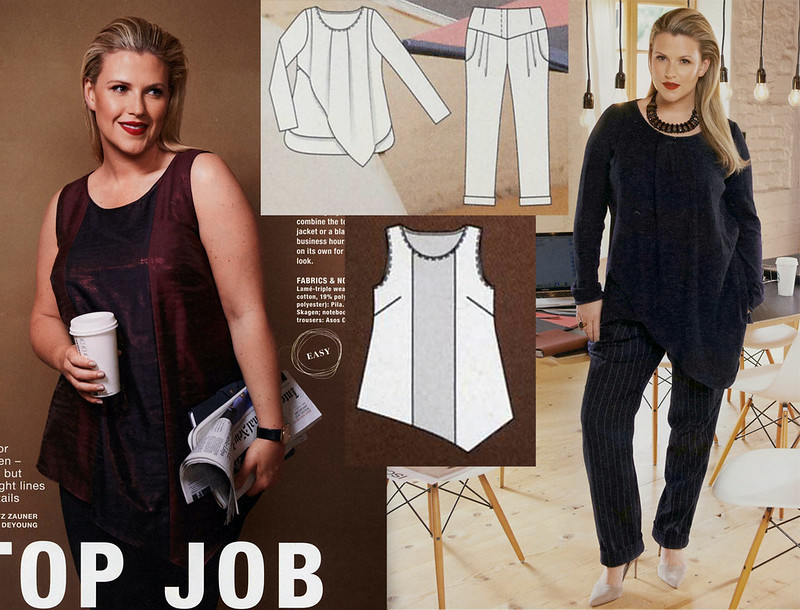 Burda-2015-January_Plus Size Asymmetric Hem Top