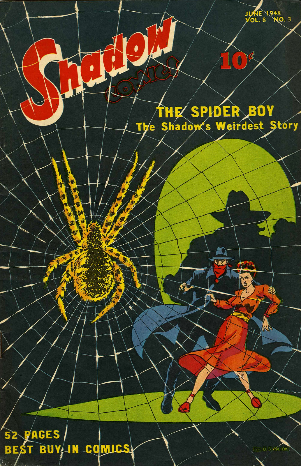 Shadow Comics V8#3 (Street & Smith, 1948) Bob Powell Cover