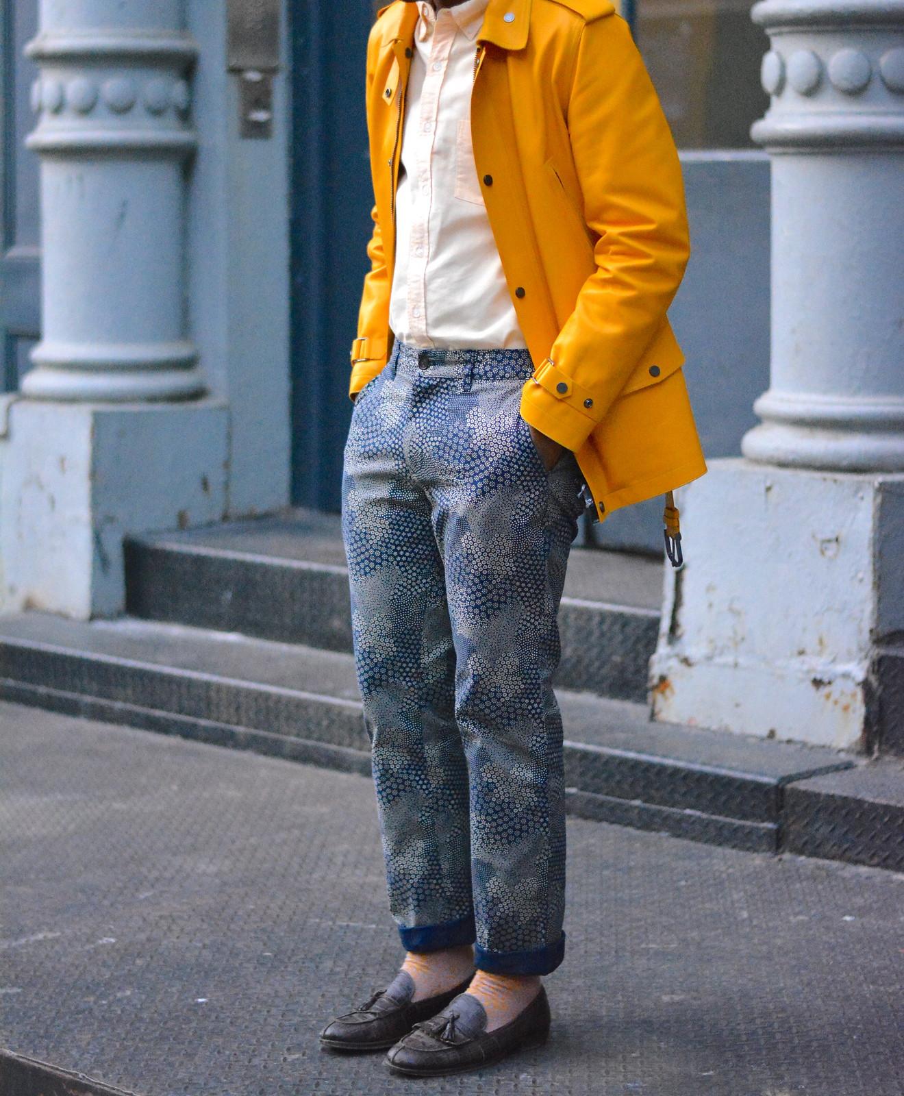 Yellow Leather Jacket - Style Society Guy