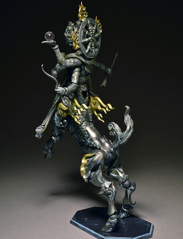 海洋堂 - タケヤ式自由裝飾 半馬天‧阿修羅 ~青銅調~