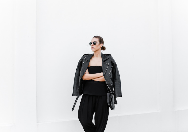 MODERN LEGACY fashion blog Australia all black minimalist street style Matches Fashion BLK DNM leather biker jacket (5 of 9)