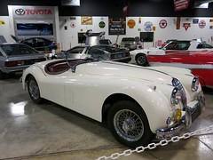 race car, automobile, jaguar xk120, jaguar xk140, vehicle, automotive design, antique car, classic car, vintage car, land vehicle, luxury vehicle, sports car,