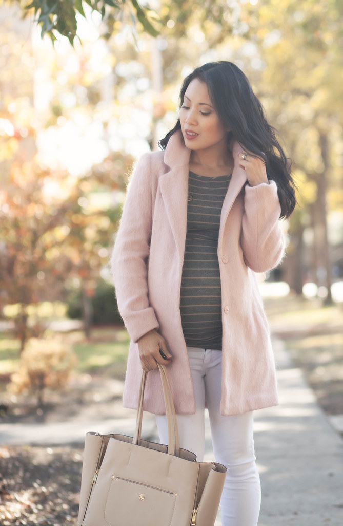 Pink Winter Coat // 30 Week Bump - cute & little | Dallas Petite ...
