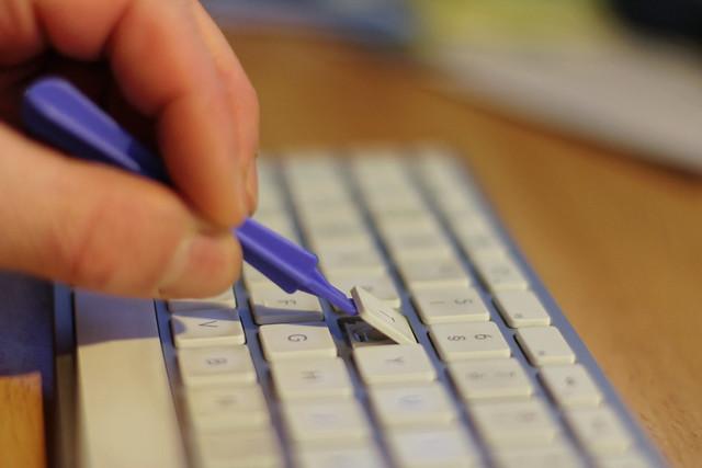 clavier Apple: Soulèvement de la touche par levier