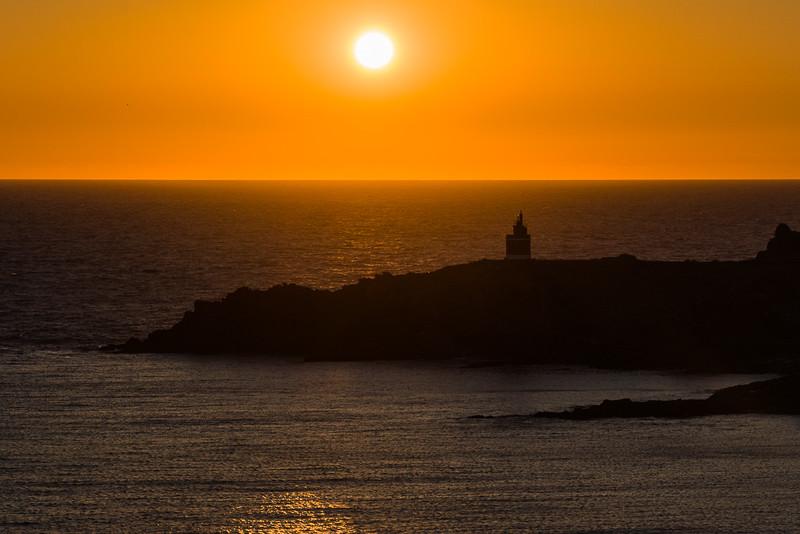 Puesta de sol sobre Punta Robaleira