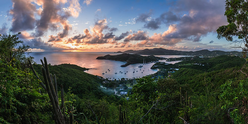 travel sunset sea panorama beach nature clouds strand landscape island sonnenuntergang urlaub natur wolken insel antigua caribbean landschaft sonne nelsonbay reise westindies karibik englishharbour nelsondock