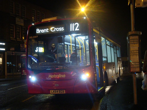 Metroline DEL2069 on Route 112, Ealing Broadway