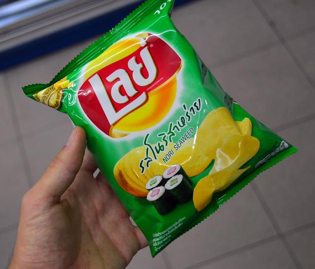 Patatas Lays con sabor sushi de Bangkok