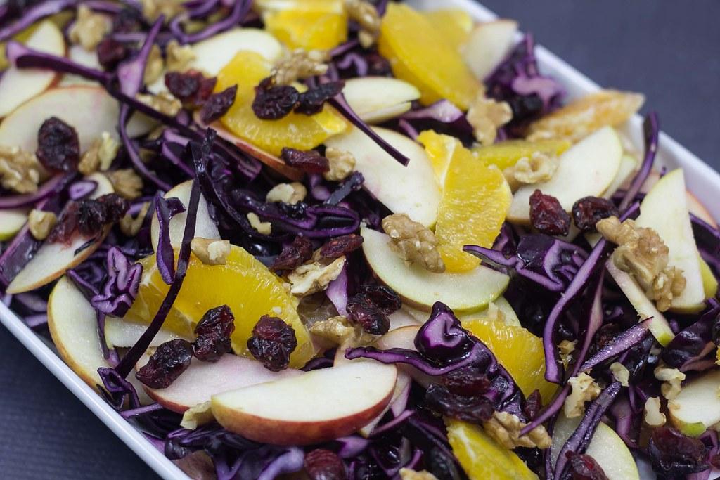 Rødkålssalat med æble, appelsin og tranebær (3)