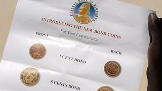 Zimbabwe New Bond coins letter