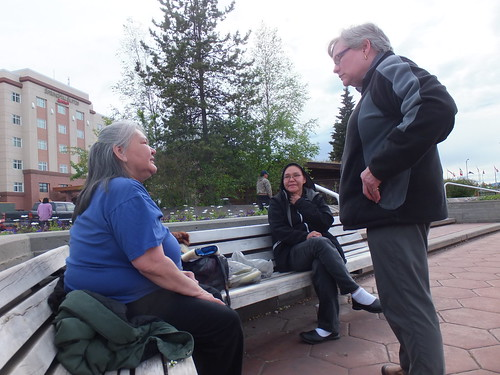 28. Irene Talks with Alaskan Native Come into Anchorage to Sell Handicrafts
