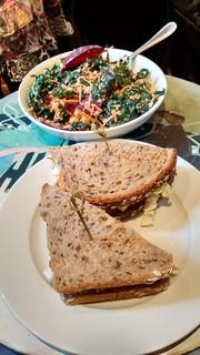 Lunch at Pavement Cafe, Newbury Street, Boston