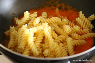 Add-cooked pasta