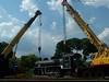 Proses Pengangkatan dan Pemindahan Lokomotif D 5106 di Ambarawa