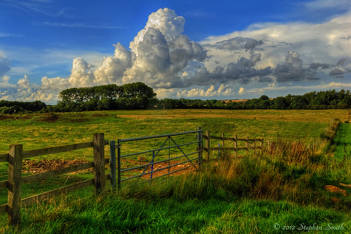 uk trees summer england nature clouds fence landscape countryside nikon scenery gate afternoon northamptonshire august fields cloudscape newton 2012 hedgerows grangeroad tonemapped d80 geddington
