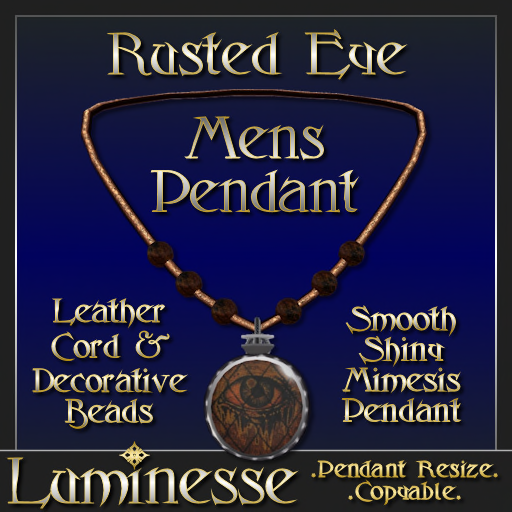 _LUM-Rusted Eye Pendant MENS