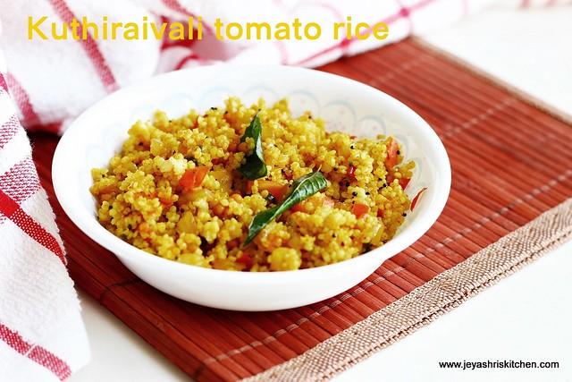 Kuthiraivali-thakkali-rice
