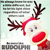 "#regram the best douhla online @lbreggy ""be more like Rudolph"""