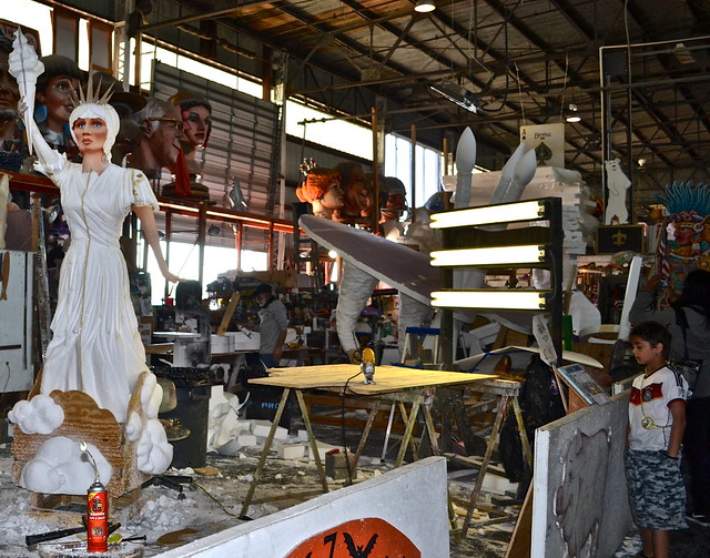 Mardi Gras World New Orleans - people at work