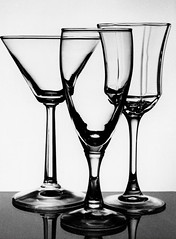martini glass, beer glass, wine glass, drinkware, stemware, tableware, monochrome photography, glass, champagne stemware, still life photography, monochrome, black-and-white,