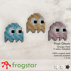 Frogstar - Grungy Pixel Ghost Poster