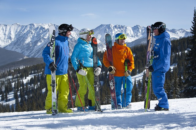 Adults learn to ski at Vail