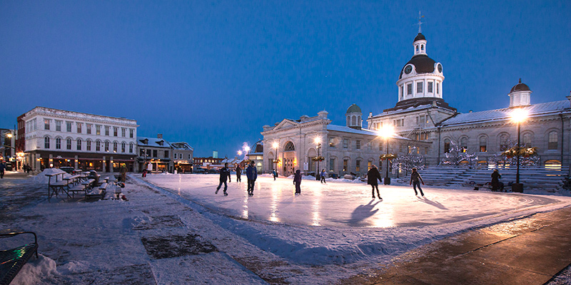 We're hoping your holiday involves skating and hot chocolate at Kingston's Market Square.