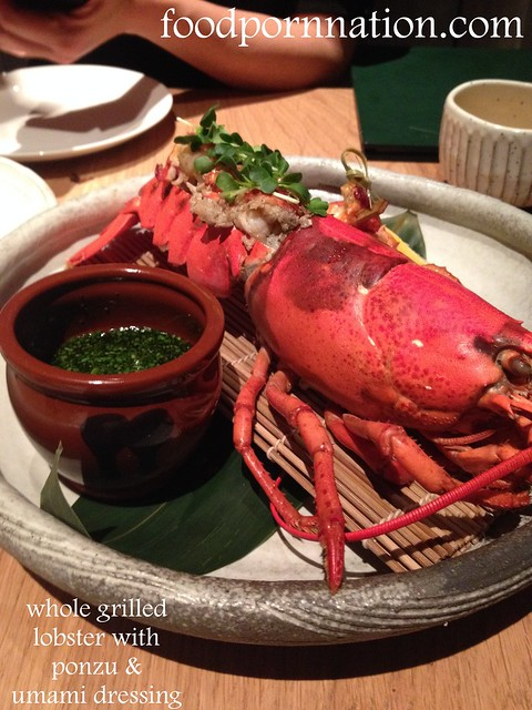 whole grilled  lobster with ponzu &  umami dressing