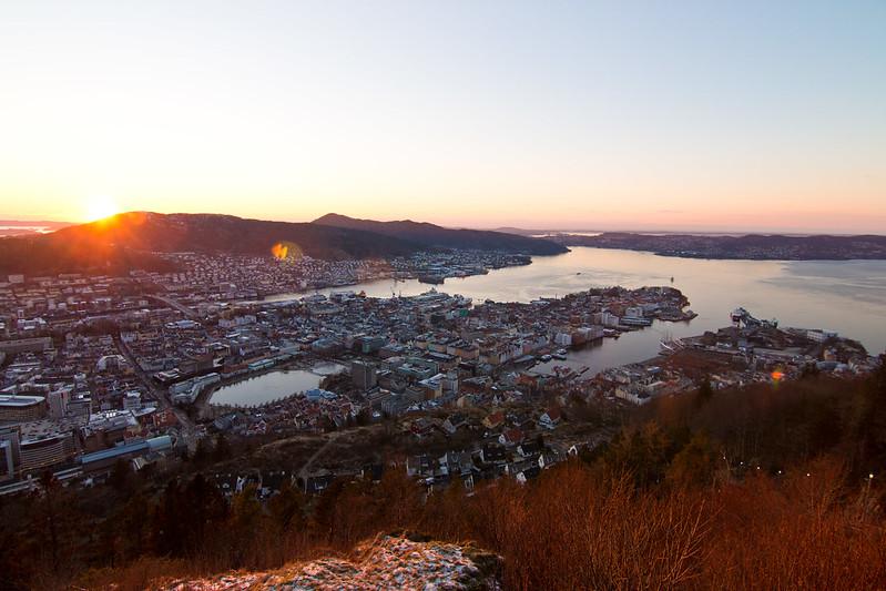 Bergen from Fløyen
