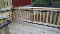 Single pipe handicap handrail installed at Dover Barn