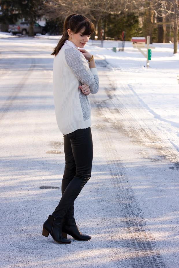 Loft Sweater, Coated Denim