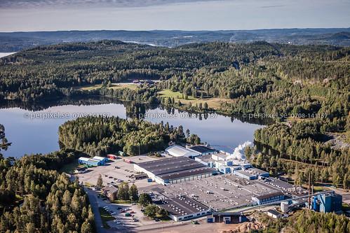 3 sverige industri swe västragötaland flygfoto skåpafors
