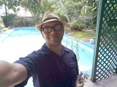 Me with Hemingway's pool, Key West, Florida, USA