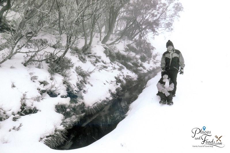 falls creek victoria black and white