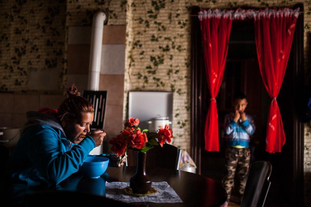 Ennél a családnál paprikás krumpli volt ebédre némi vakaróval | Fotó: Magócsi Márton
