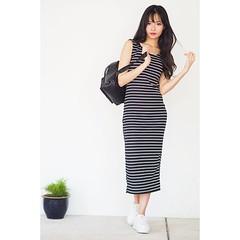 New arrivals   striped open slit midi dress one size available at #paradigmmall #sunwaypyramid #ootd #mididress