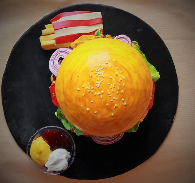 Burger Cake by Richa Jain