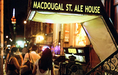 MacDougal St at night
