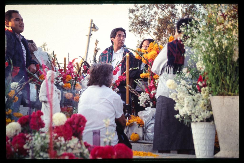 Fete des morts à Mexico - En famille